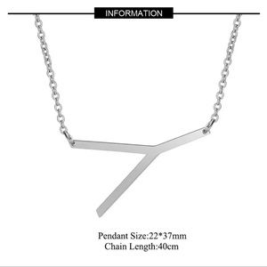 """Jewelry - NEW!! 🌟 Initial """"Y"""" Pendant Necklace"""